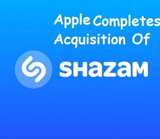 Apple Completes Acquisition of Shazam