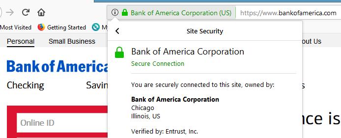 Example of EV SSL