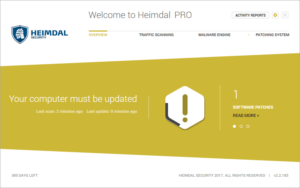 Critical Message about the system- Heimdal Pro