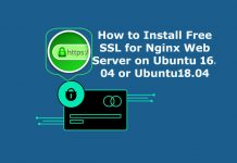 Install Free SSL on Nginx Web Server with Ubuntu 16.04 or Ubuntu 18.04