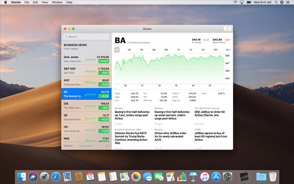 Stocks App now available on Mac