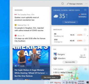 How To Turn Off The MSN News And Weather Feed From Taskbar In Windows?