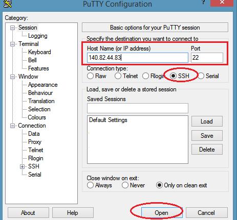 SSH Login Using PuTTY
