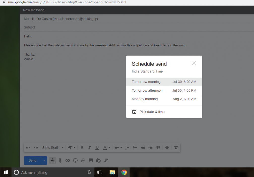 How To Schedule An Email In Gmail?