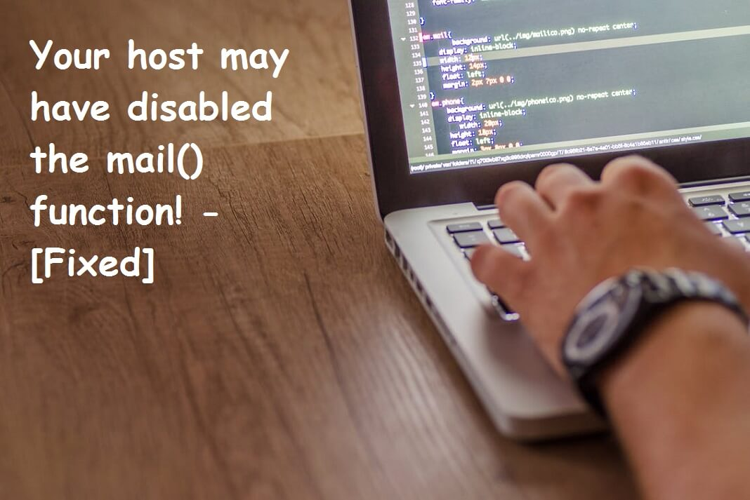 Your host may have disabled the mail() function - Hawkdive