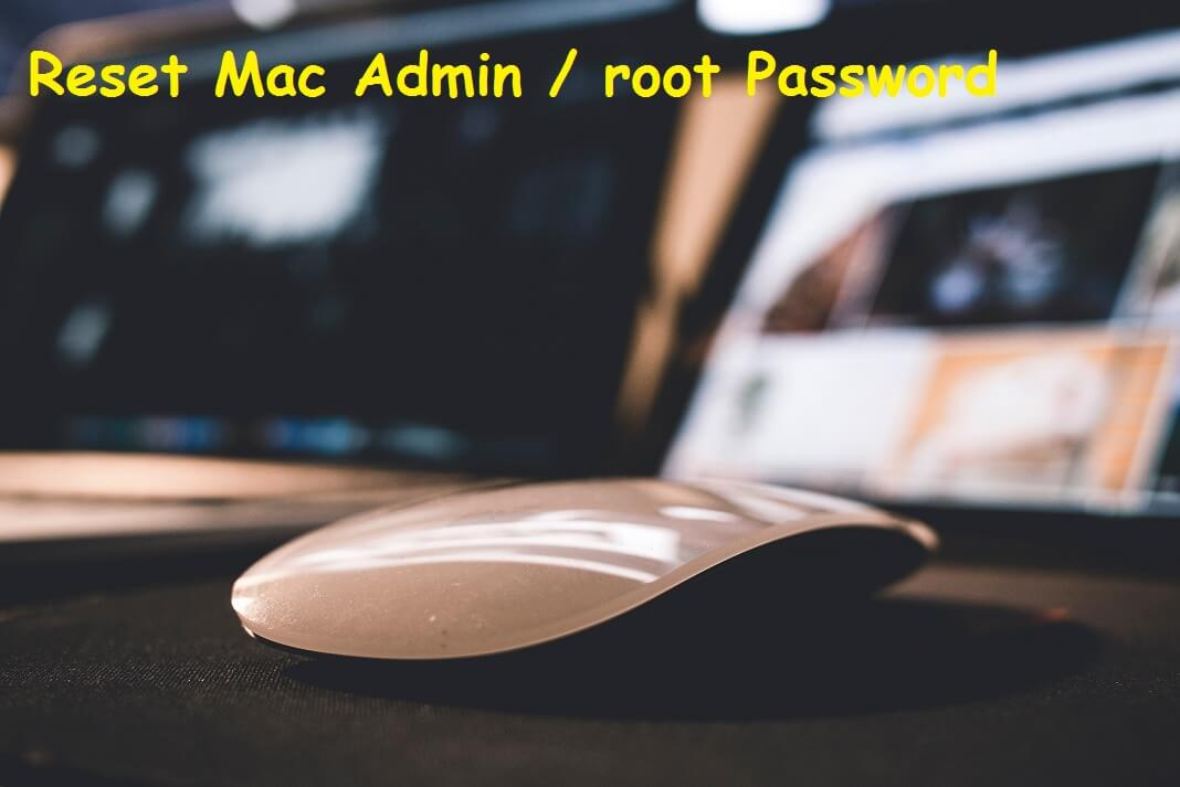 Reset Root or admin password on Mac OS X
