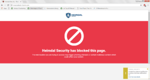Website Blocked by Heimdal PRO's DarkLayer GUARD