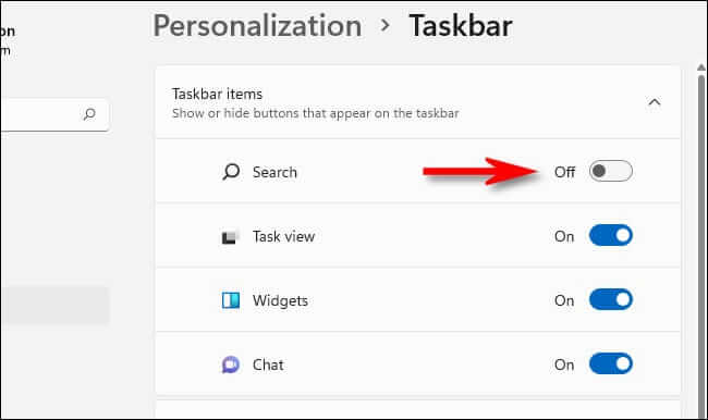 How To Hide The Taskbar Search Icon On Windows 11?