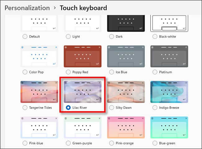 How To Change Touch Keyboard Themes On Windows 11?
